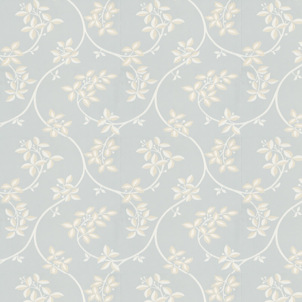 Ringwold Wallpaper - White / Blue - by Farrow & Ball