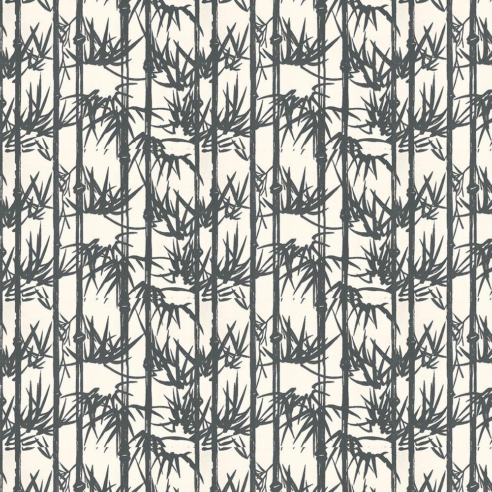 Farrow & Ball Bamboo Black and white Wallpaper - Product code: BP 2119