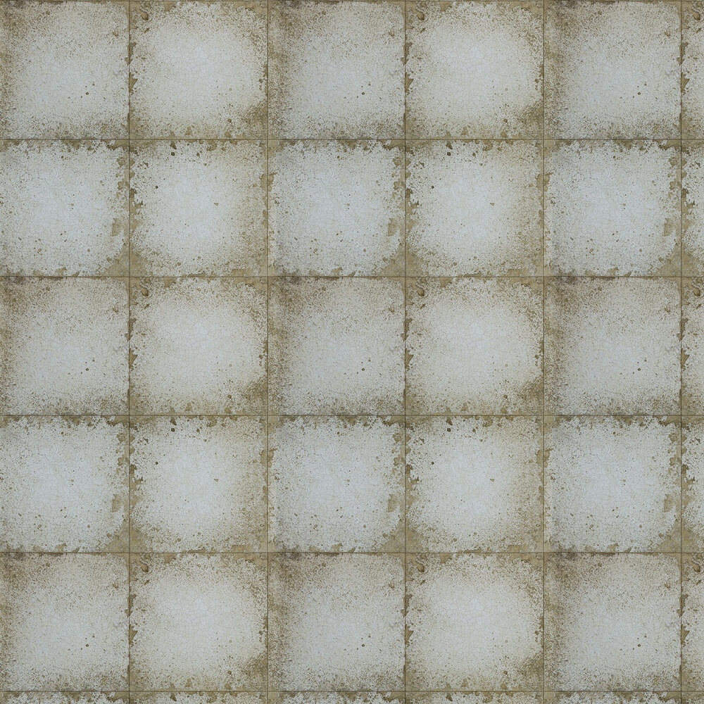 Zoffany Lustre Tile Silver Grey Wallpaper - Product code: 310982