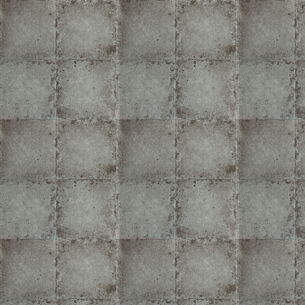 Zoffany Lustre Tile Pewter Wallpaper - Product code: 310983