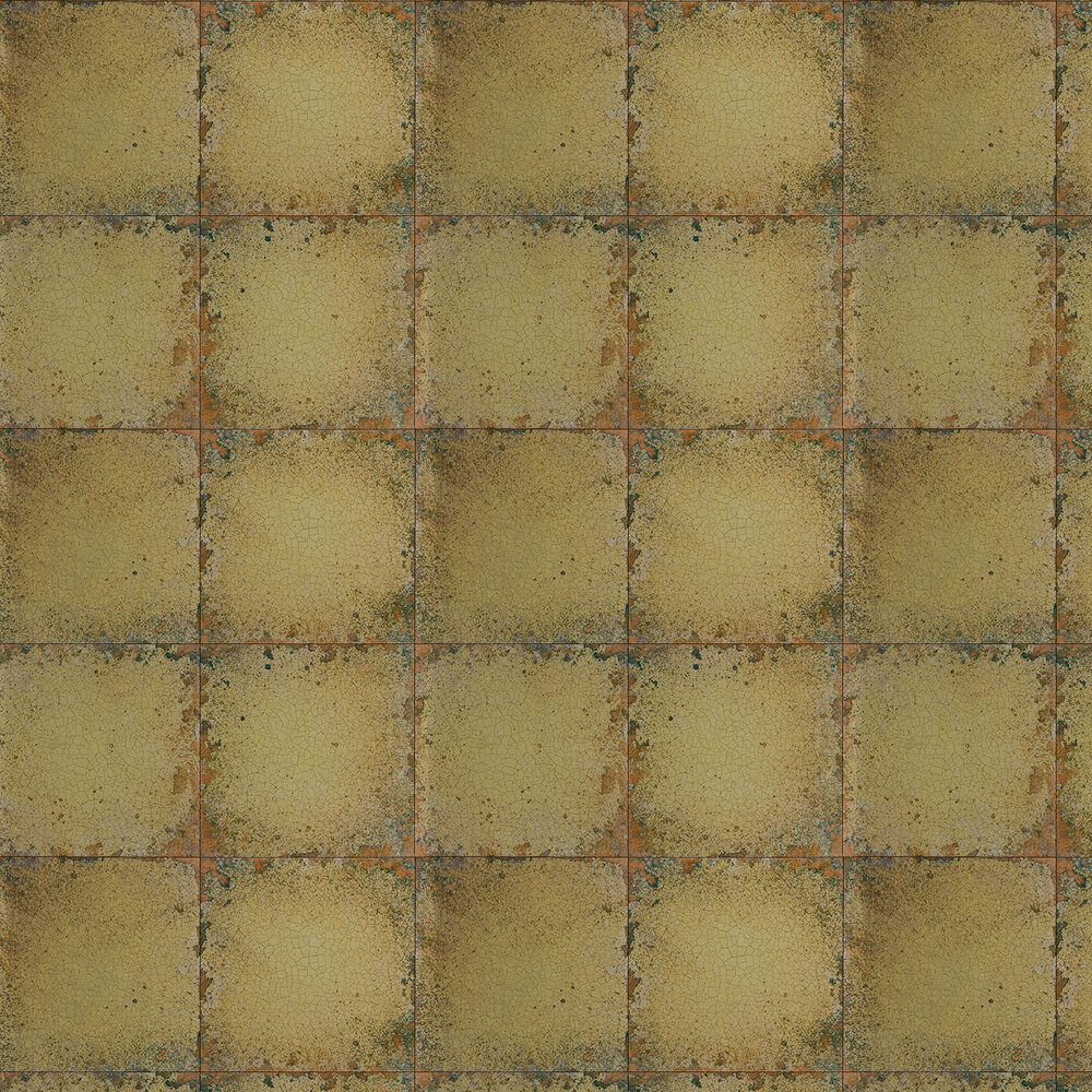 Zoffany Lustre Tile Gold Wallpaper - Product code: 310984