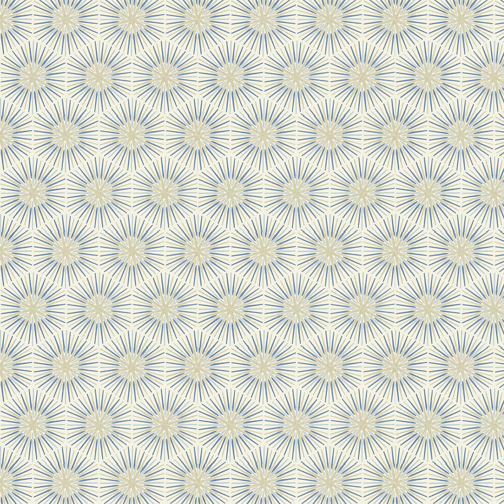 Spark By Zoffany Blue Silver Wallpaper 310993