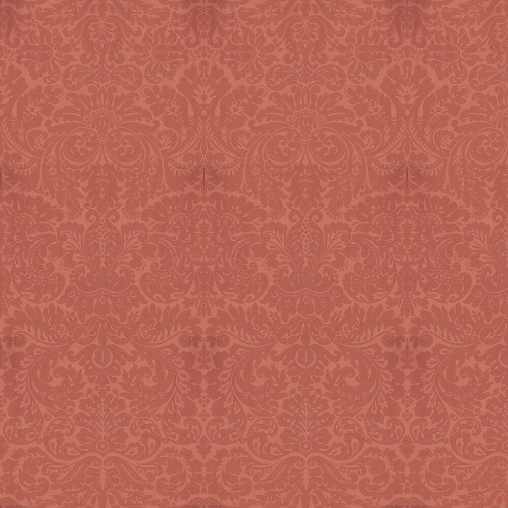 Silvergate Wallpaper - Red - by Farrow & Ball