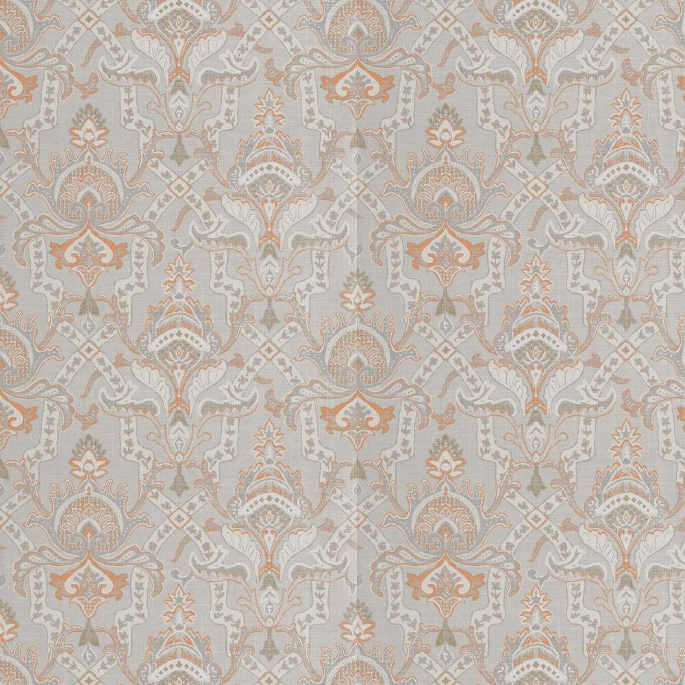 Sakara By Thibaut Grey Orange Wallpaper T1044
