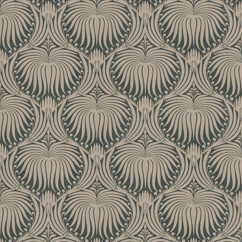 Farrow & Ball Lotus Taupe / Black Wallpaper - Product code: BP 2017