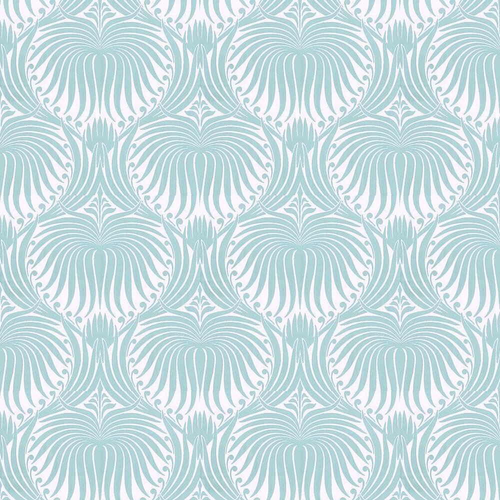 Farrow & Ball Lotus Teal / Off White Wallpaper - Product code: BP 2053