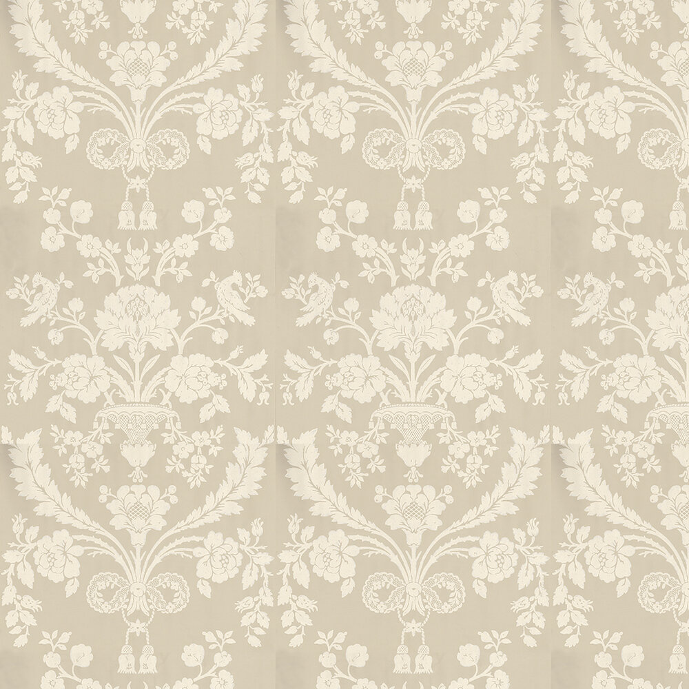 St Antoine Wallpaper - Cream / Light Grey - by Farrow & Ball