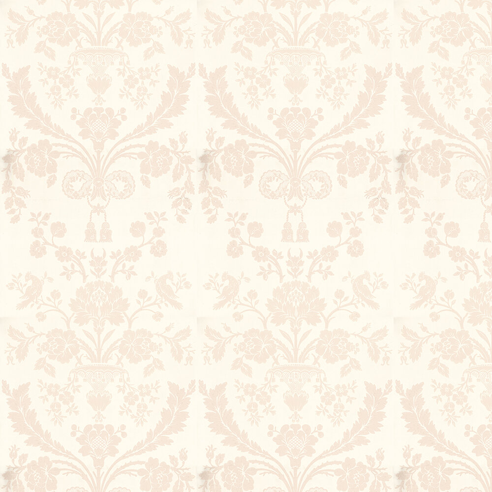 St Antoine Wallpaper - Pale Pink / Off White - by Farrow & Ball