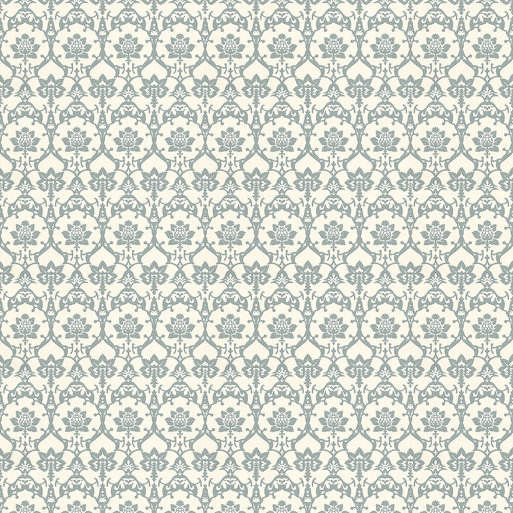 Farrow & Ball Brocade Blue / Off White Wallpaper - Product code: BP 3209