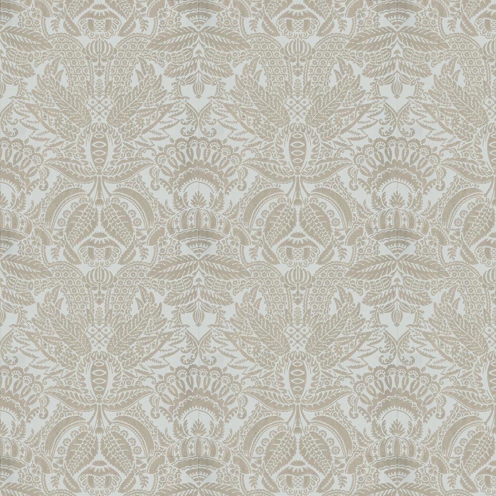 Farrow & Ball Orangerie Metallic Silver / Blue Wallpaper - Product code: BP 2520