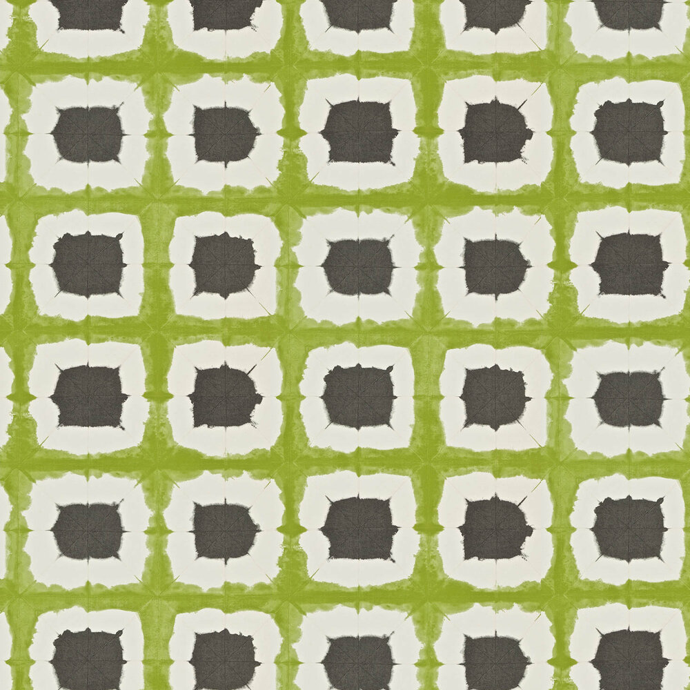 Scion Shoji Green / Grey Wallpaper - Product code: 110433