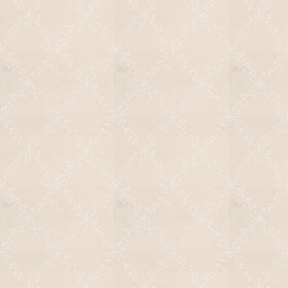 Toile Trellis Wallpaper - White / Cream - by Farrow & Ball