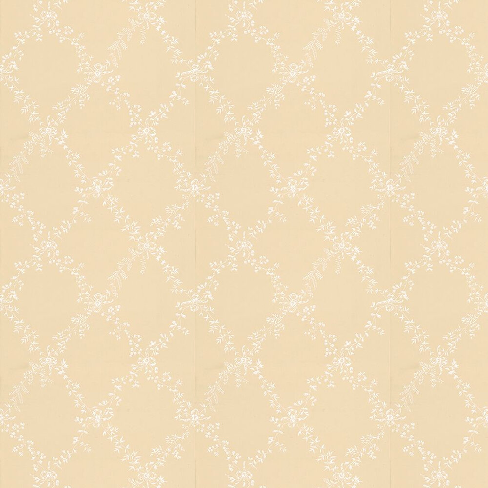 Farrow & Ball Toile Trellis White / Yellow Wallpaper - Product code: BP 644