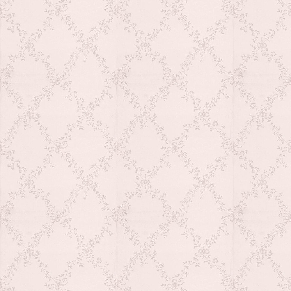 Farrow & Ball Toile Trellis Pale Pink / Off White Wallpaper - Product code: BP 631