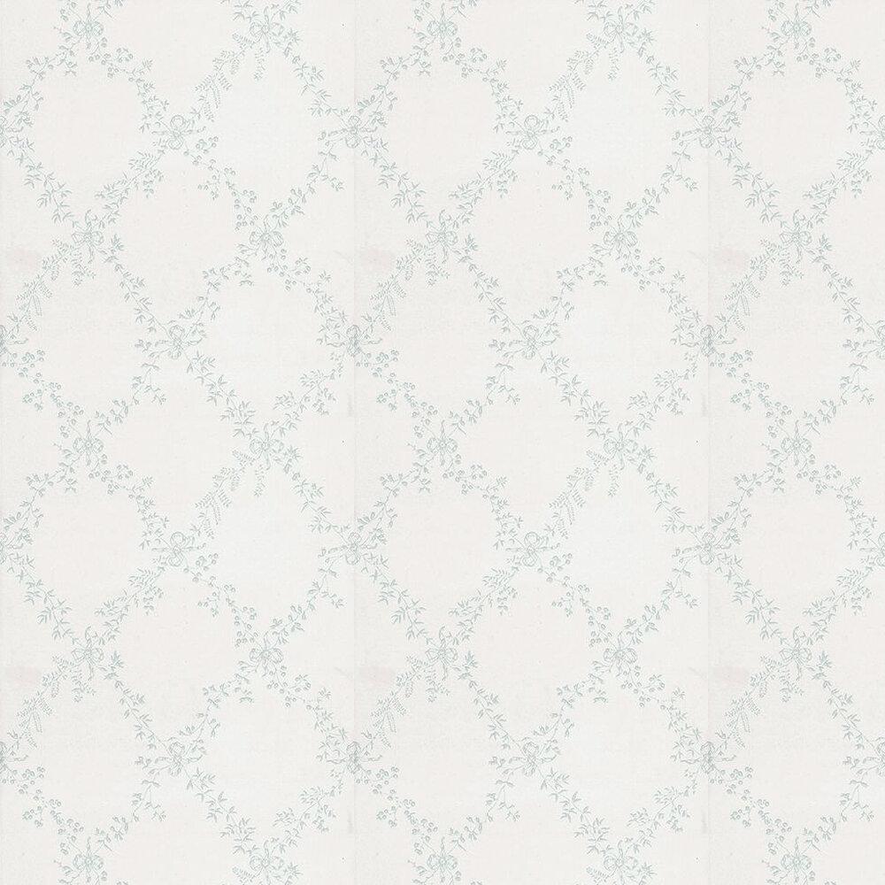 Farrow & Ball Toile Trellis Duck Egg / Off White  Wallpaper - Product code: BP 668