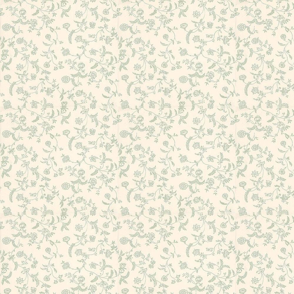 Farrow & Ball Uppark Green / Off White Wallpaper - Product code: BP 549