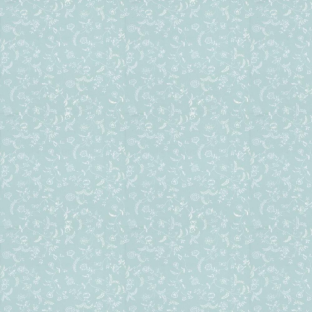Farrow & Ball Uppark White / Sky Blue Wallpaper - Product code: BP 553