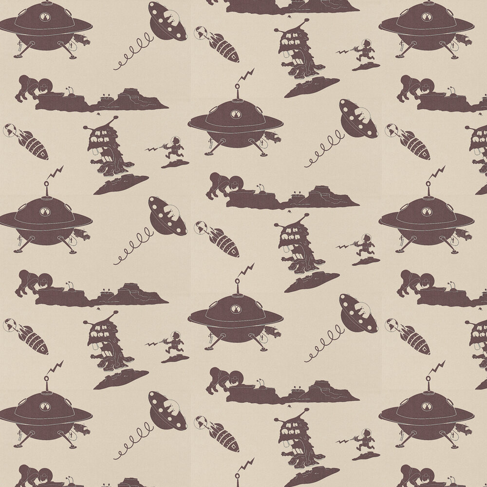 PaperBoy The Final Frontier Stone and Purple Stone / Purple Wallpaper - Product code: TFF/WP/STONE