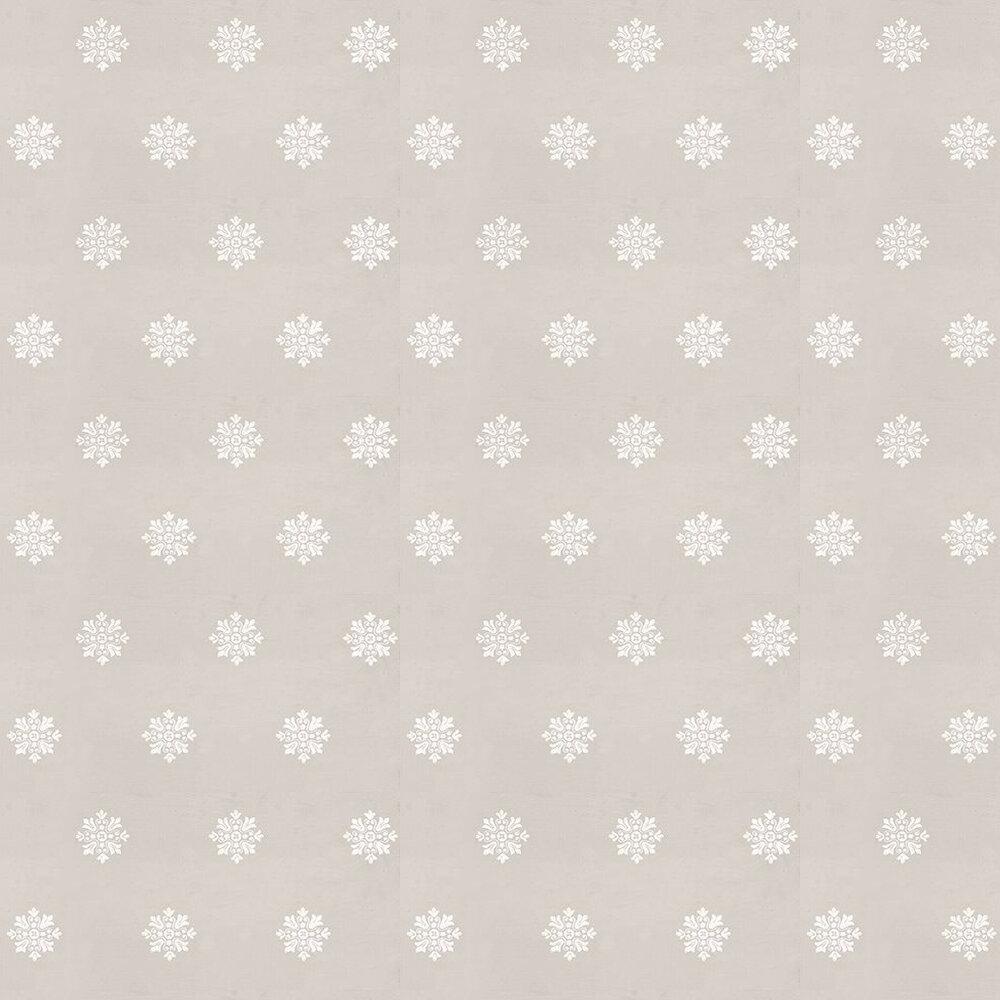 Brockhampton Star Wallpaper - White / Dark Cream - by Farrow & Ball