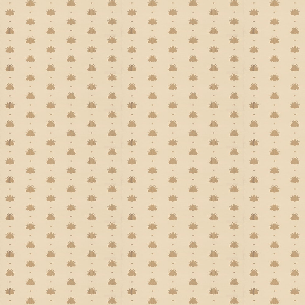 Farrow & Ball Bumble Bee Metallic Gold / Sand Wallpaper - Product code: BP 516