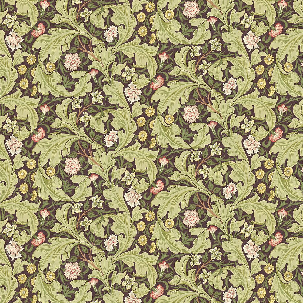 Leicester Wallpaper - Olive - by Morris