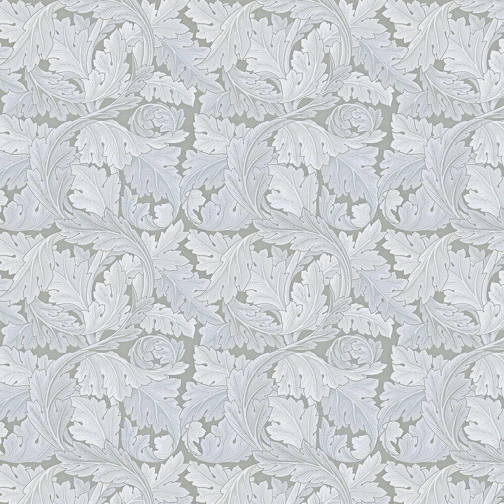 Acanthus Wallpaper - Silver Grey - by Morris