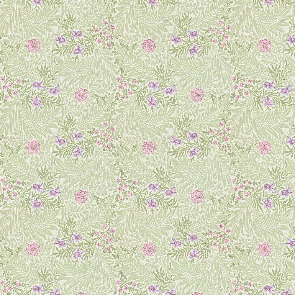 Morris Larkspur Pale Green / Pink / Lilac Wallpaper - Product code: 212555