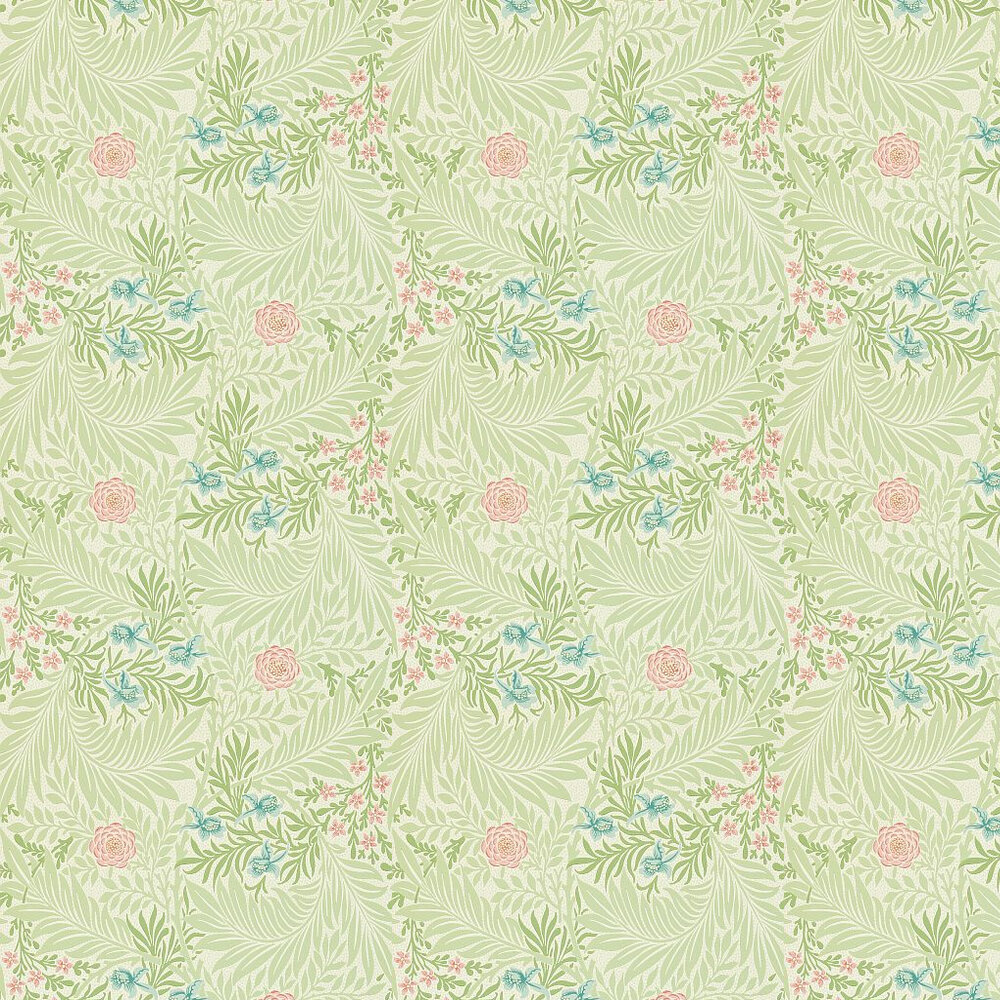 Morris Larkspur Green / Pink / Blue Wallpaper - Product code: 212558