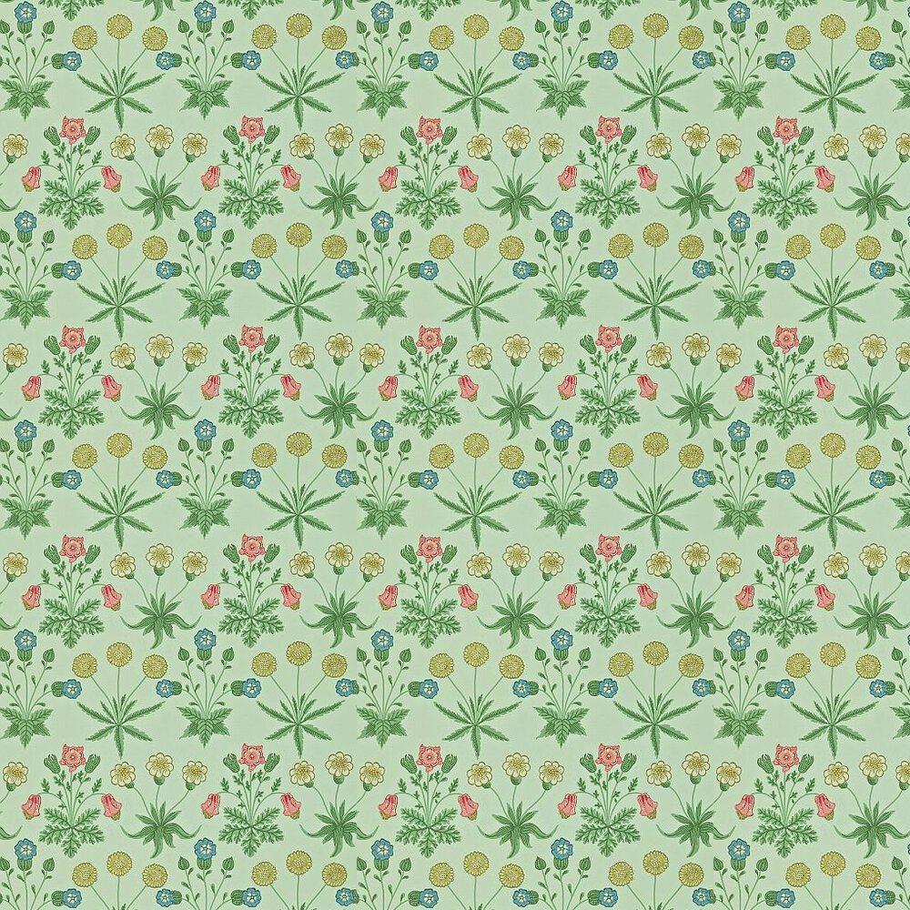 Morris Daisy Green / Multi Wallpaper - Product code: 212559