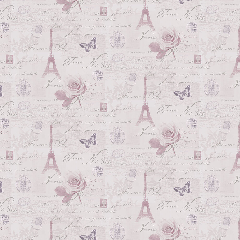 Albany Calligraphy Heather Wallpaper - Product code: 97751
