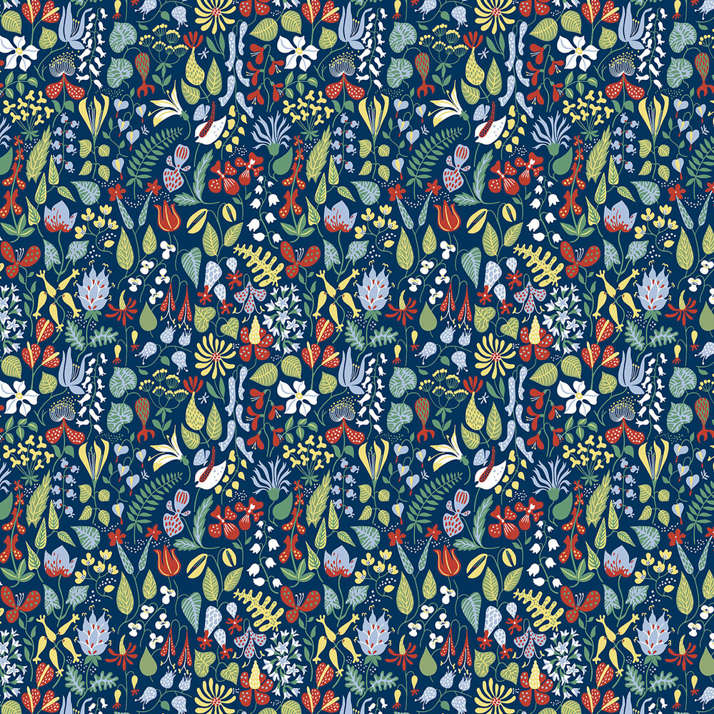 Boråstapeter Scandinavian Designers Navy / Multi Wallpaper - Product code: 2744