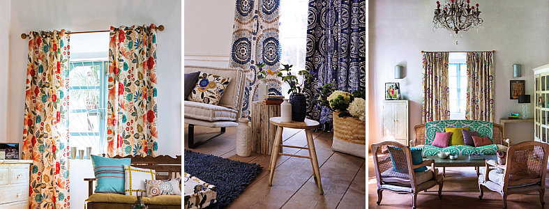 Curtains Ideas curtains matching wallpaper : Harlequin Jardin Boheme Fabric Collection : Wallpaper Direct