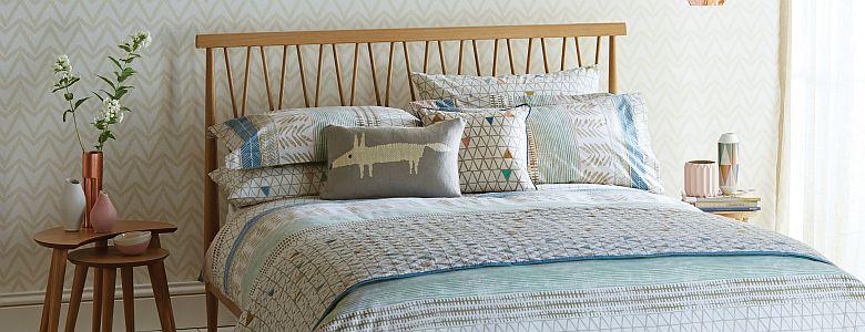 Scion Raita Stripe Bedding Collection Wallpaper Direct