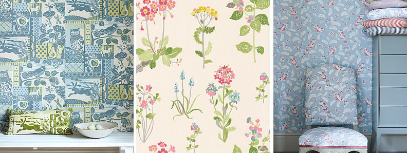 Jane Churchill Brightwood Wallpaper Collection