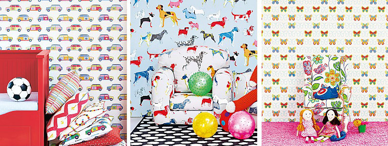 Jane Churchill Get Happy Wallpaper Collection