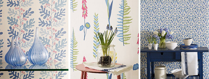 Sanderson Home Papavera Wallpaper Collection : Wallpaper ...