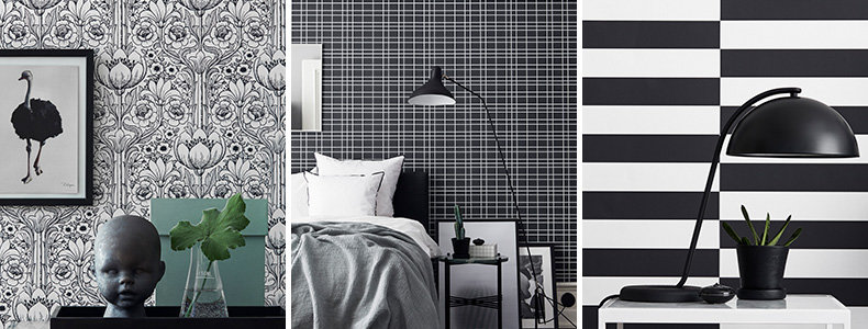 Engblad & Co Eco Black & White Wallpaper Collection