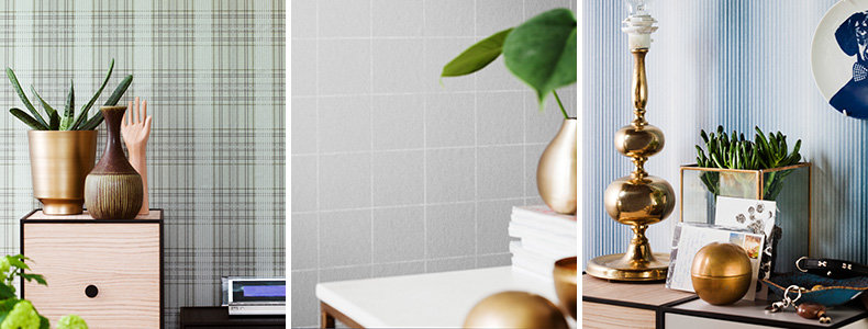 Eco Wallpaper Stripes & Squares Wallpaper Collection