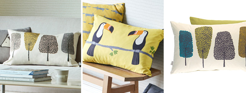 Scion Cedar & Terry Toucan Cushions  Collection