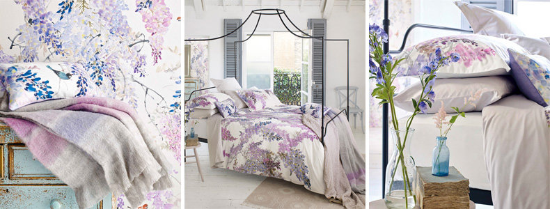 Sanderson Wisteria Falls Bedding Collection