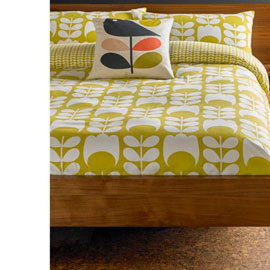 Orla Kiely Tulip Flannelette Cotton Bedding Collection