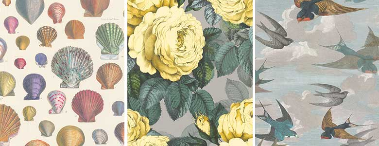 Designers Guild John Derian Picture Book Wallpaper Collection