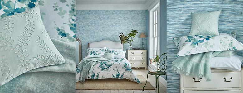 Sanderson Delphiniums bedding Collection