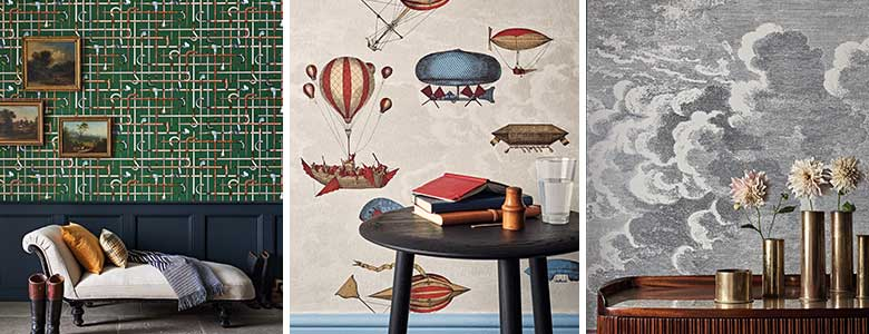 Cole & Son Fornasetti Senza Tempo Wallpaper Collection