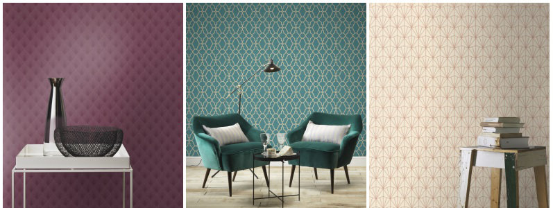 Albany Art Deco Wallpaper Collection