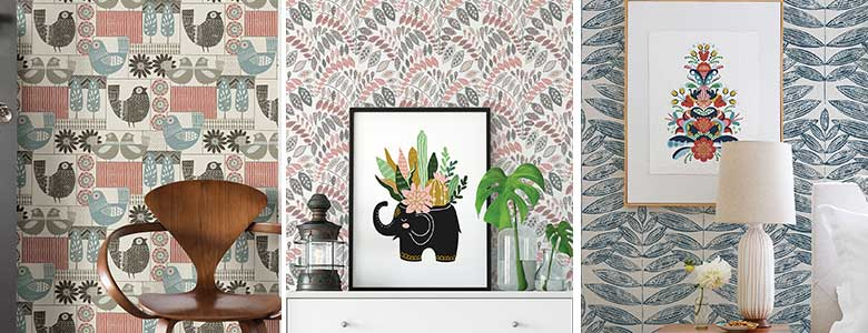 A Street Prints Folklore Wallpaper Collection