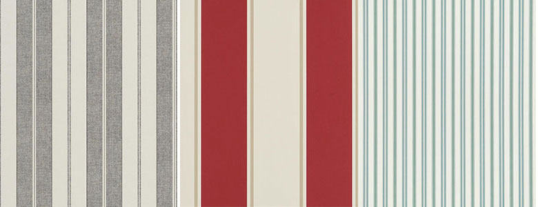 Ralph Lauren Signature Stripe Library Wallpaper Collection
