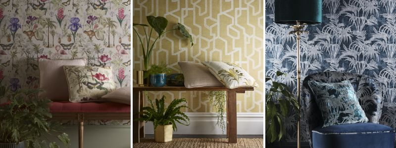 Clarke & Clarke Exotica Wallpaper Collection