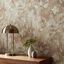 Baker Lifestyle Latika  Stone/Silver Wallpaper