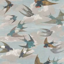 Designers Guild Chimney Swallows Sky Blue Wallpaper - Product code: PJD6003/01